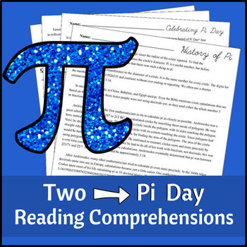 Pi Day Reading Comprehensions