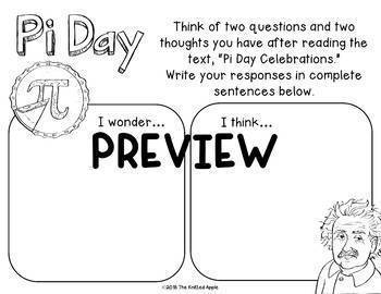 Pi Day Read and Respond (Digital or Print)