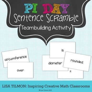 Pi Day Sentence Scramble Teambuilding Activity