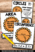 Area and Circumference of a Circle Anchor Charts, Geometry Posters, Pi Day