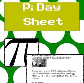 Pi Day Sheet