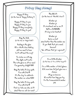 Pi Day Sing-along