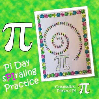 Pi Day Activity Spiraling Practice Pre Algebra Test Prep 8