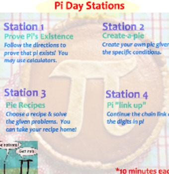 Pi Day Stations (Ideal for Elementary and/or Middle School)