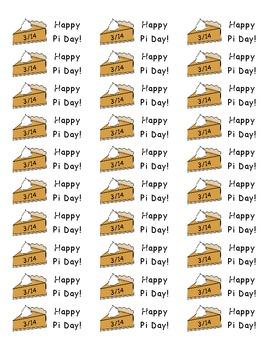 Pi Day Stickers - Free! by Kelly Whittier   Teachers Pay Teachers