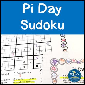 Pi Day Sudoku Activity Game