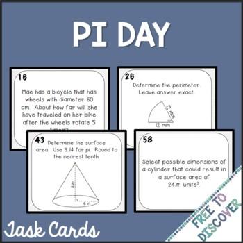 Pi Day Task Cards