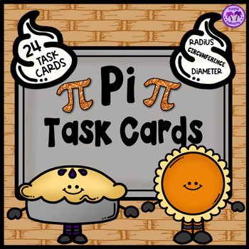 Pi Day Task Cards (Area and Circumference of a Circle)