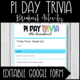 Pi Day Trivia - Break Out Activity
