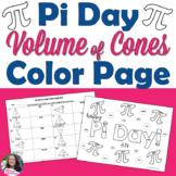 Pi Day Volume of Cones Color Page