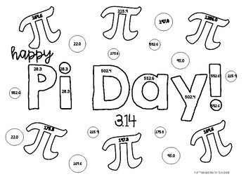 Pi Day Volume of Cylinders Color Page