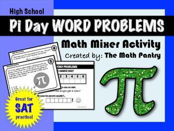 Pi Day Word Problems - Math Mixer Activity - High School