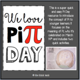 Pi Day: Younger Learners Activity