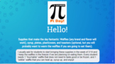 Pi Day activities with Waffles!  This product can be used