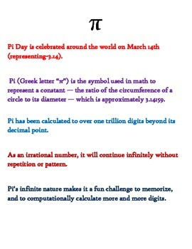 Pi Day for 4th Grade-Multi-Step Math Word Problems