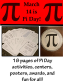 Pi Day is March 14! - 18 pages of activities, centers, awa