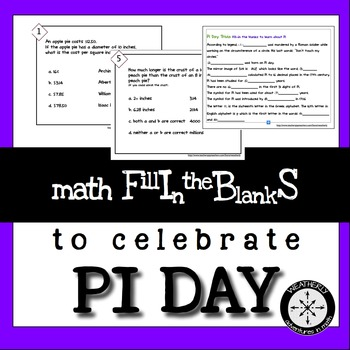 Pi Day Activities or Anyday MathFibs