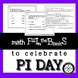 Pi Day Activities (or any day) MathFibs