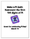 Pi Quilt: Represent the first 100 Digits of Pi