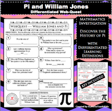 Pi William Jones Web Quest Mathematics Differentiated Exploration Pi Day