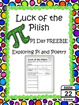 Pi Day and Poetry with Luck of the Pilish FREEBIE