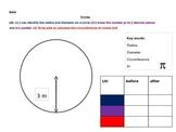 Pi, circumference, radius and diameter