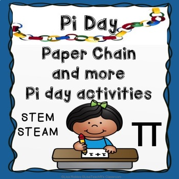 Pi day paper chain and pi day activities