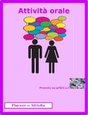 Piacere and Activities Italian Partner Speaking Activity