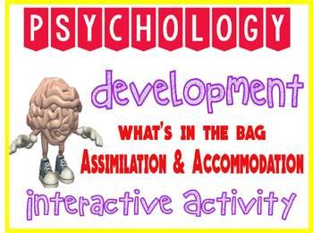 Psychology Developmental Interactive Assimilation & Accommodation Activity
