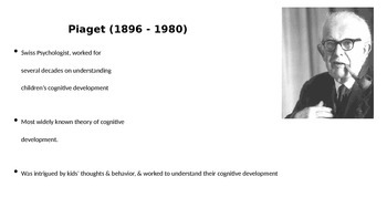 Piaget's Stages of Cognitive Development Powerpoint
