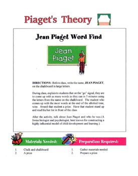 Piaget's Theory Lesson