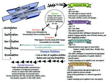 Piaget's Theory of Cognitive Development Graphic Organizer