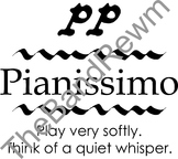 Pianissimo Music Poster - Music Room Posters - Dynamics