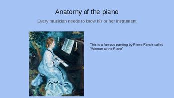 Piano Anatomy Powerpoint Lesson