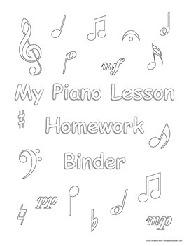 Piano Binder Cover