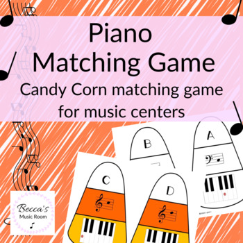 Piano Candy Corn Matching Game for Fall Music Centers