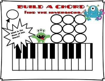 Piano Chords Worksheet