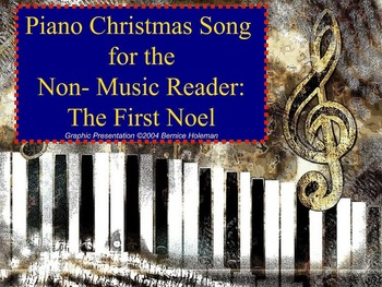 Piano Christmas Song for the Non-Music Reader: The First Noel
