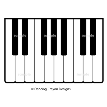 Music Borders and Piano Keyboard Clip Art