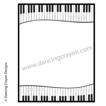 Music Clip Art | Piano Keyboard Borders and Clipart