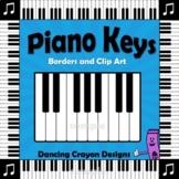 Music Clip Art | Piano Keyboard Borders