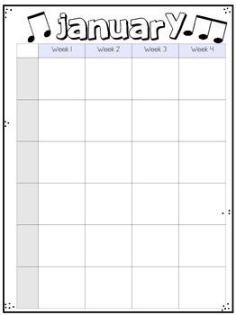 Piano Curriculum Calendars