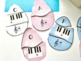Piano Easter Egg Matching Game for Spring Music Centers