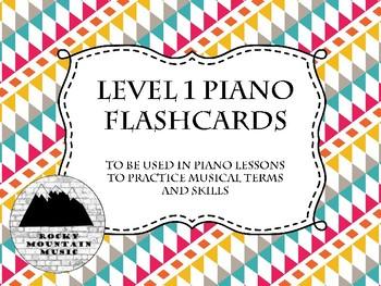 Piano Flash Cards Level 1 Southwest Sunrise