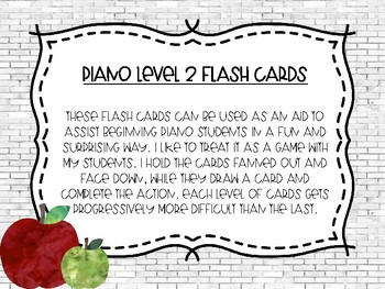 Piano Flash Cards Level 2 Picking Apples
