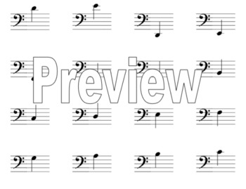 photo regarding Piano Flash Cards Printable identify Piano Flash Playing cards Issue 2 (Treble and B Clef Notes)