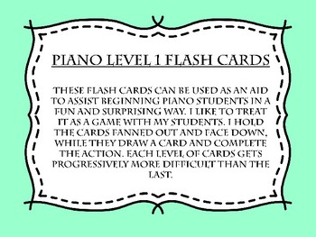 Piano Flash Cards Level 2 Tribal Print