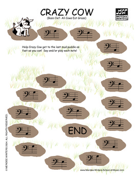 Piano Game Activity: Note Reading - MW Collection 1