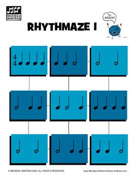 Piano Game Activity: Rhythmaze - Rhythm Drills