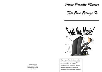 Homework book Cover Piano